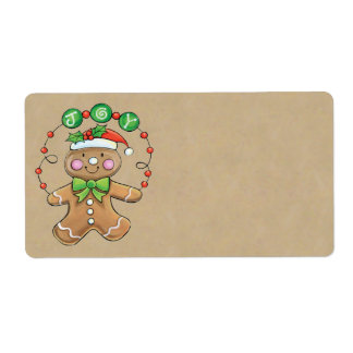 Christmas Cookie Gift Labels - Large