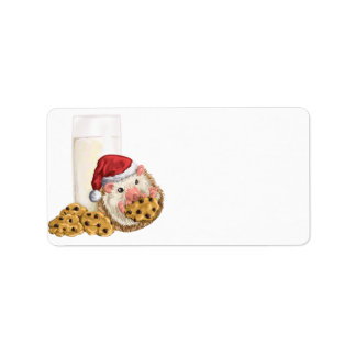 Christmas Cookie Hog Address Label