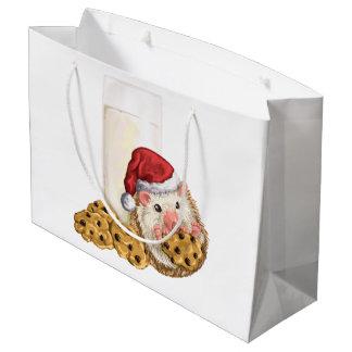 Christmas Cookie Hog Large Gift Bag