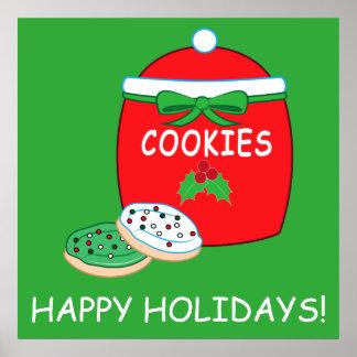 Christmas Cookie Jar and Cookies Poster