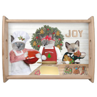Christmas Cookie Kitten Serving Tray