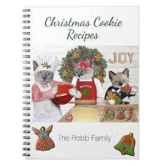 Christmas Cookie Kittens Recipe Notebook