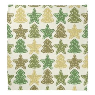 Christmas cookie pattern bandana