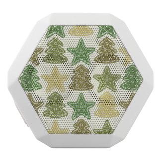 Christmas cookie pattern white boombot rex bluetooth speaker