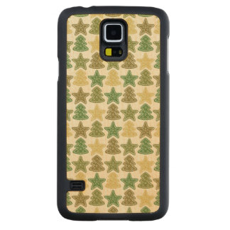 Christmas cookie pattern carved maple galaxy s5 case