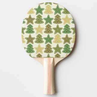 Christmas cookie pattern ping pong paddle