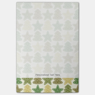 Christmas cookie pattern post-it notes
