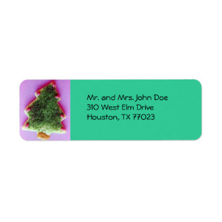 Christmas cookie return address label