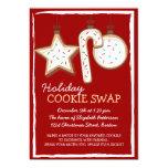 "Christmas Cookie Swap Holiday Invitation 5"" X 7"" Invitation Card"
