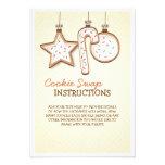Christmas Cookie Swap Instruction Card Custom Announcements