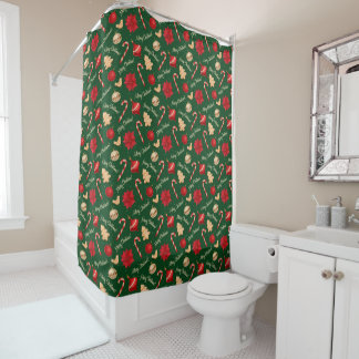 Christmas Cookies And Ornaments Shower Curtain