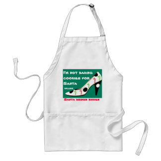 Christmas Cookies and Shoes with Santa Standard Apron
