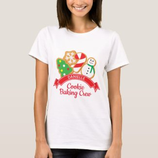 Christmas Cookies Baking Crew Shirt Personalized
