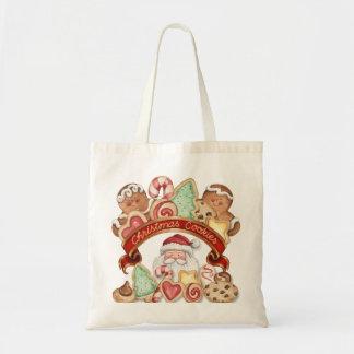 Christmas Cookies Gingerbread & Santa Tote Bag