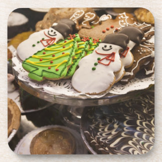 Christmas cookies on display in a New York city Drink Coaster