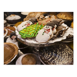 Christmas cookies on display in a New York city Postcard