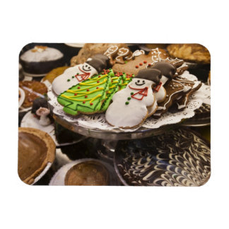 Christmas cookies on display in a New York city Rectangular Photo Magnet