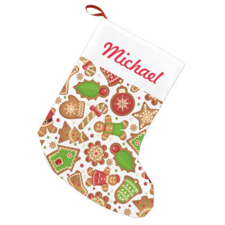 Christmas Cookies Pattern Small Christmas Stocking
