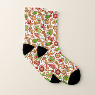 Christmas Cookies Pattern Socks
