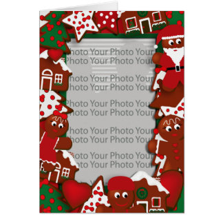 Christmas Cookies Photo Frame Card