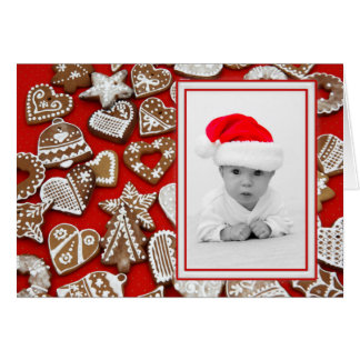 Christmas Cookies Photo Frame + your photo & ideas Greeting Card