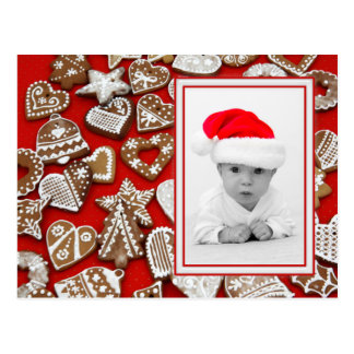Christmas Cookies Photo Frame + your photo & ideas Postcard