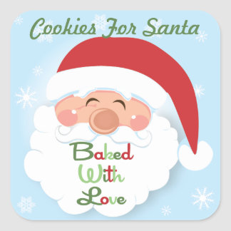 Christmas Cookies Santa  Baking label Stickers