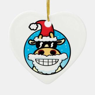 Christmas Cool Cow Christmas Ornament