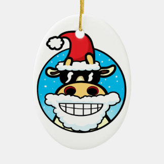 Christmas Cool Cow Christmas Ornament