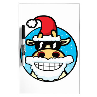 Christmas Cool Cow Dry Erase Board