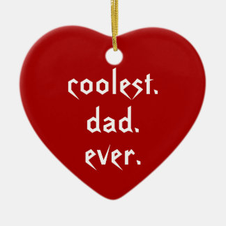 Christmas Coolest Dad Ever Red Father Christmas Ornament