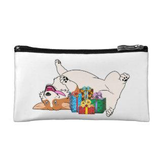 Christmas Corgi Cosmetic Bag