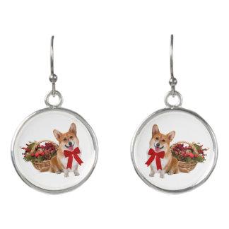 """""""Christmas Corgi"""" Drop Earrings"""