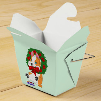 Christmas Corgi Gift Box Wedding Favour Boxes