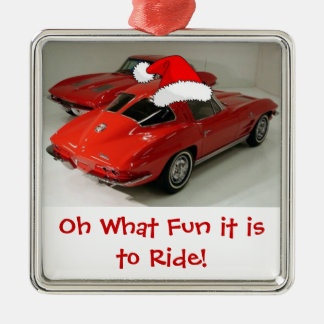 Christmas Corvette Split Window Christmas Ornament