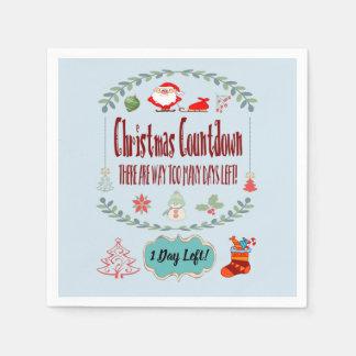 Christmas Countdown Standard Paper Napkins
