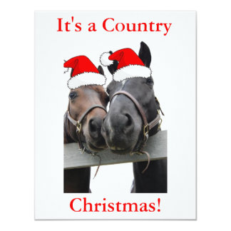 Christmas Country Horses Card