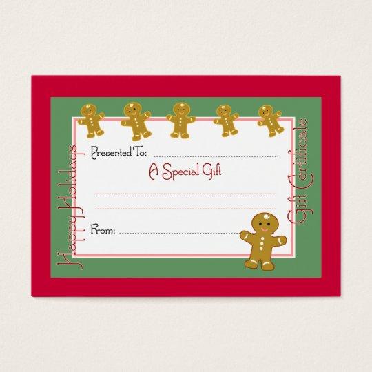 Christmas Coupon Cards