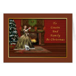 Christmas, Cousin and Family Old Fashioned Greeting Cards