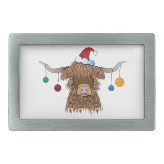 Christmas Cow Belt Buckle