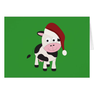 Christmas cow card