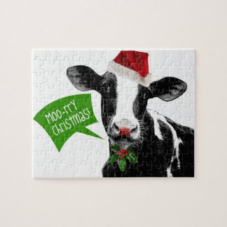 Christmas Cow - Moory Xmas! Jigsaw Puzzle
