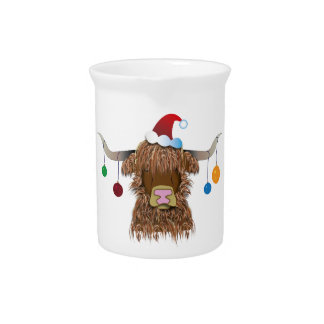 Christmas Cow Pitcher