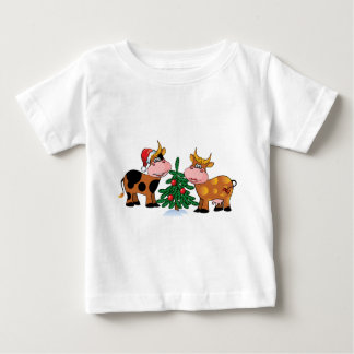Christmas Cows Baby T-Shirt