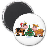 Christmas Cows Magnet