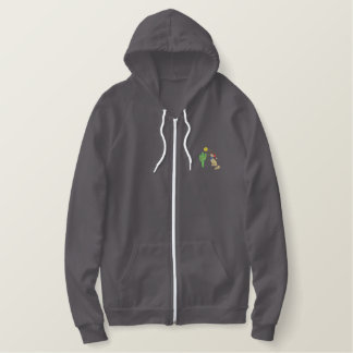 Christmas Coyote Embroidered Hoodie