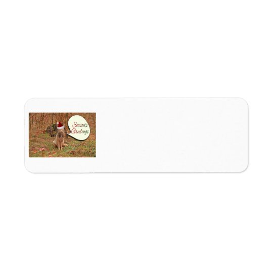 Christmas Coyote Return Address Label