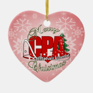 CHRISTMAS CPA Certified Public Accountant Christmas Ornament