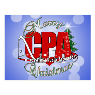 CHRISTMAS CPA Certified Public Accountant Postcard