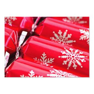 Christmas crackers 13 cm x 18 cm invitation card